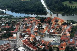 Город с высоты полёта